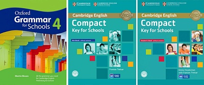 Compact Key for Schools Students book + Oxford Grammar for Schools 4 + Workbook